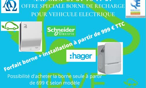 Borne de recharge véhicule électrique Bellegarde Valserhone Pays de Gex